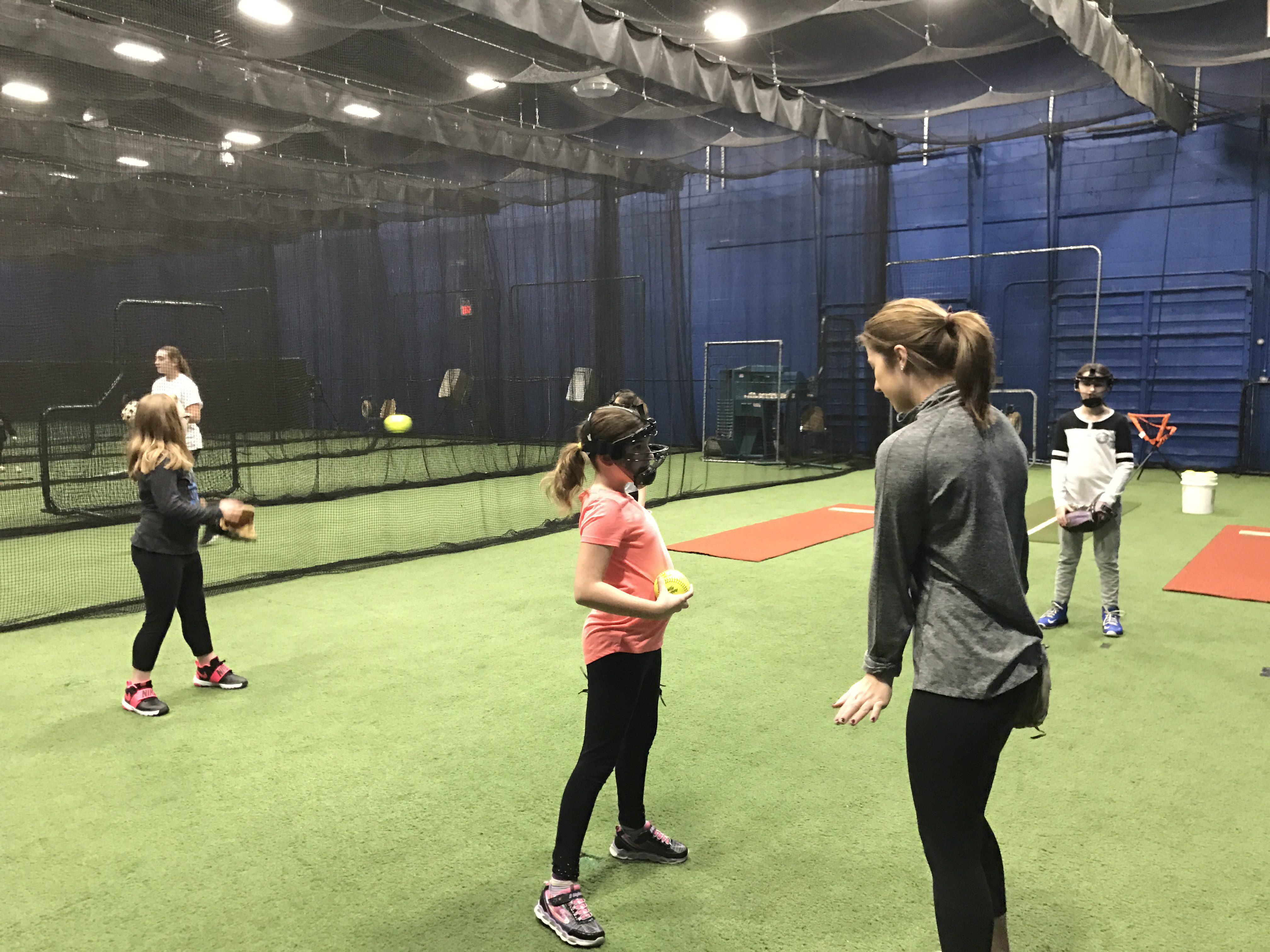 Softball Pitching, Hitting, and Catching