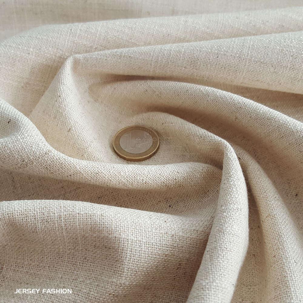 tissu lin viscose naturel