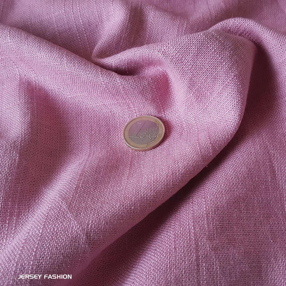 tissu lin viscose mauve clair