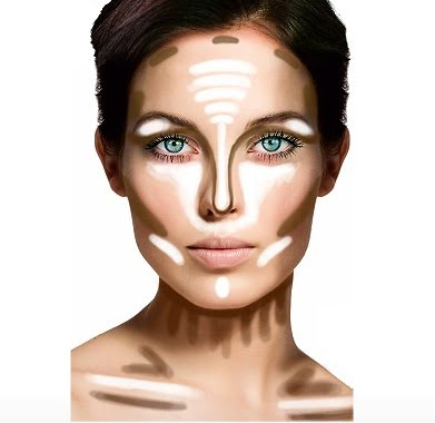 How to highlight and contour face with makeup and products to use