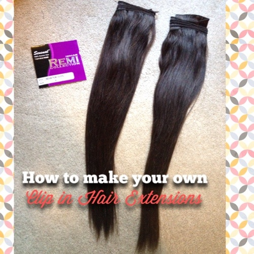 Diy how to make your own clip in human hair extensions solutioingenieria Image collections