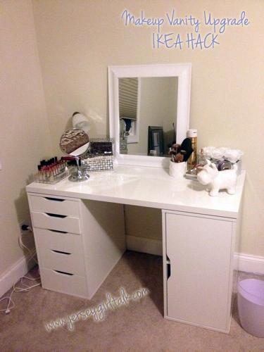 Diy Makeup Vanity Desk Set Up Alex Ikea Hack Girl Hollywood And More