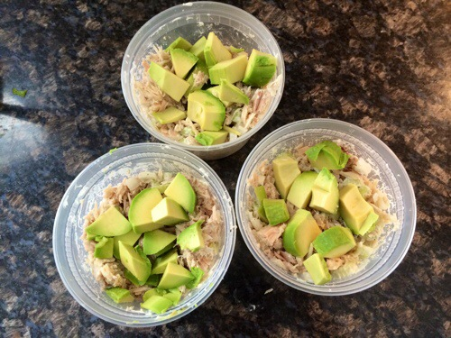 White albacore tuna fish meal prep lunch recipe high for Carbs in tuna fish
