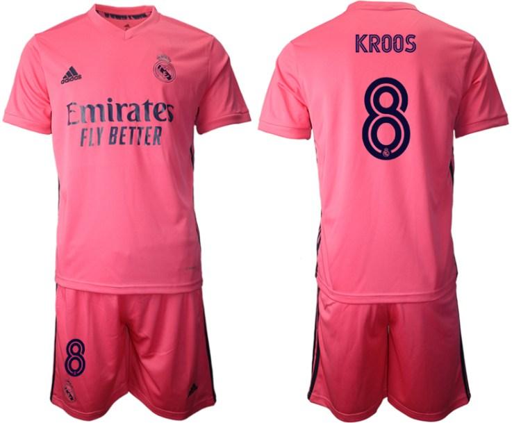 Men 2020-2021 club Real Madrid away 8 pink Soccer Jerseys
