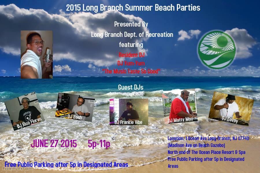 beach party Long Branch 2015 Summer Beach Parties