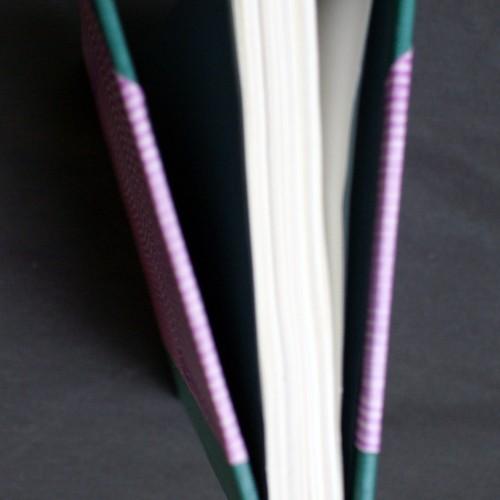Flat-back binding spine.