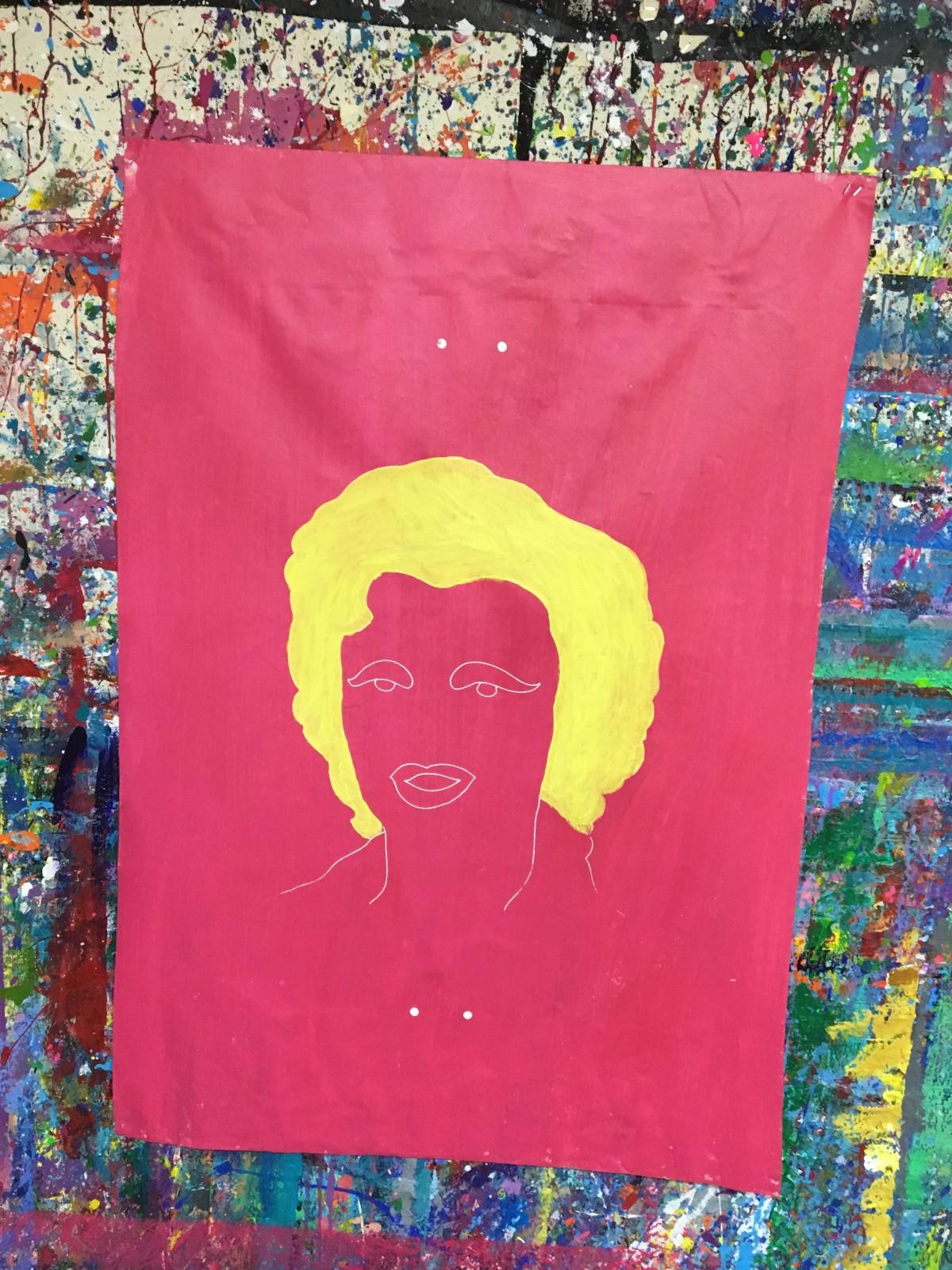 Marilyn Monroe Silkscreen - Outline & Hair