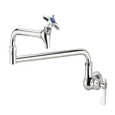 krowne 16 182l royal pot filler faucet single wall mount 24 jointed spout with shut off valve