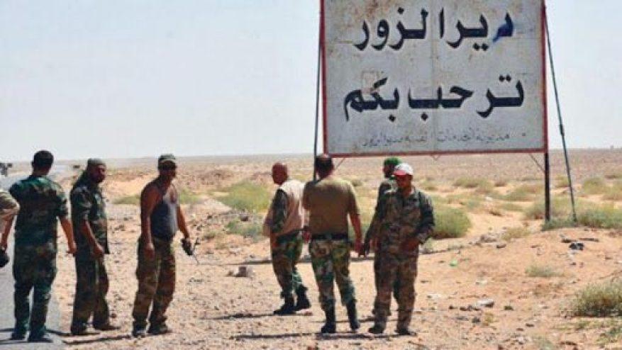 """في دير الزور - مجهولون يستهدفون رتلاً للقوات الأمريكية في بلدة """"الصبحة"""" بريف دير الزور"""