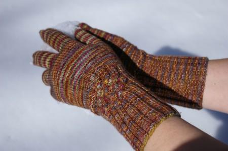 Finished Knotty Gloves