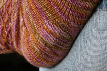 Fox Grape Leyburn Socks - Heel