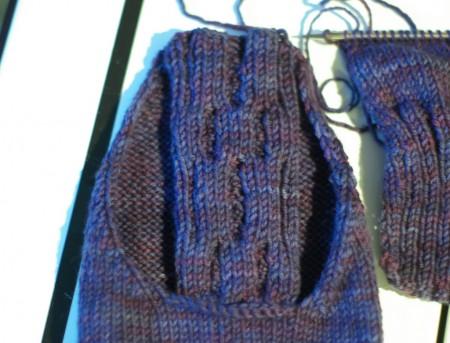 Knitting Olympics Progress 02-12-10 - sleeve cap