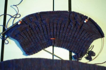 Knitting Olympics Progress 02-14-10 - the back