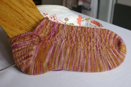 Progress on my April Sock...