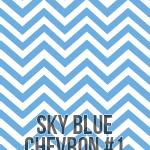 sky blue medium chevron