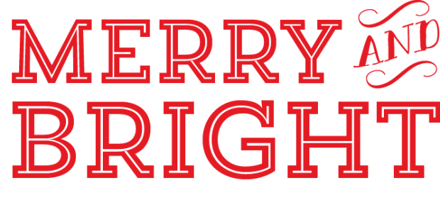 merry & bright PNG