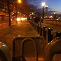 Hired a cycle to cruise along the Thames
