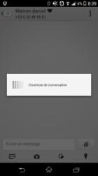 Android xPeria Z1 - Ouverture de conversation SMS