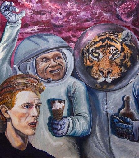 Intergalactic Ice Cream, 2017, oil on canvas, 105,5 x 120,5 cm
