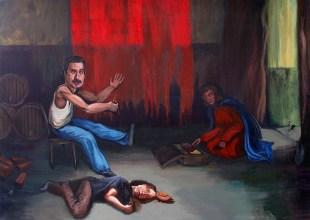 Freddie my father, 2013, acrylic on canvas, 87 x 123 cm
