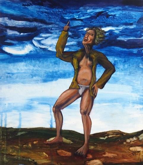 Fuck the sky 2, 2013, acrylic on canvas, 75 x 65 cm