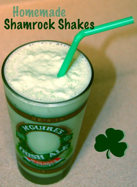 Homemade Shamrock Shakes