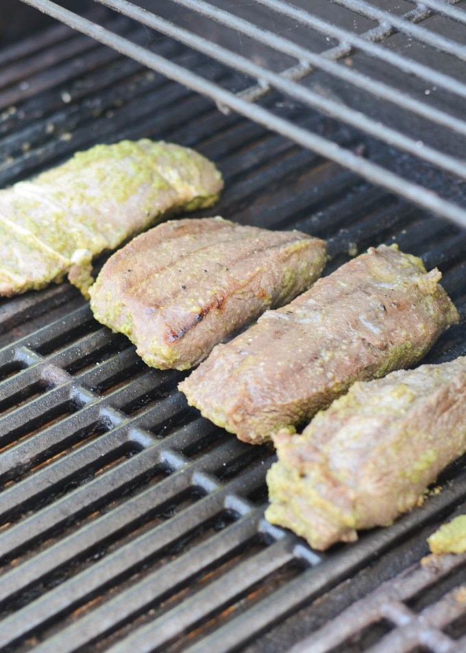 This Carne Asada steak is marinated overnight in the most delicious and flavorful marinade including lime juice, cilantro and jalapeño. It's perfect for tacos, burrito bowls, or just eating on its own.