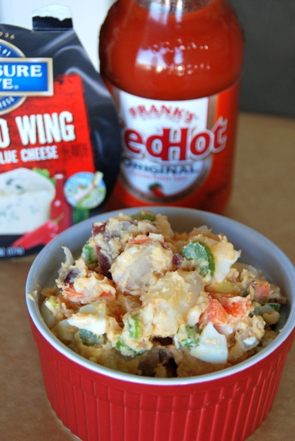Buffalo & Blue Potato Salad
