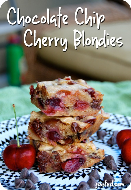 Chocolate Chip Cherry Blondies