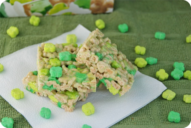 Lucky Shamrock Krispie Treats