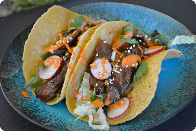 Thai Steak Tacos