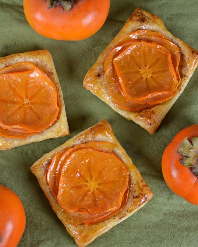 Persimmon Puff Pastry Tarts