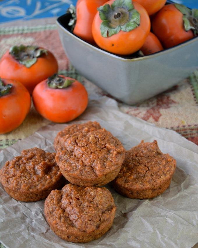 Mini Persimmon Spice Cakes
