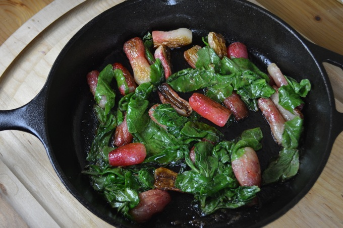 Roasted Radishes with Radish Greens