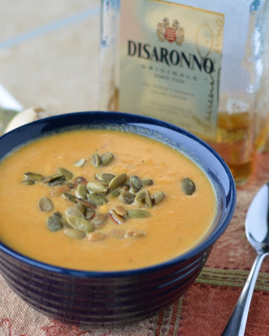 Amaretto-Kissed Butternut Squash Soup