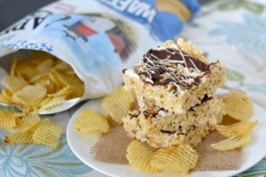 Chocolate-Covered Potato Chip Crispy Treats