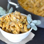 Pumpkin Penne with Sausage and Sage