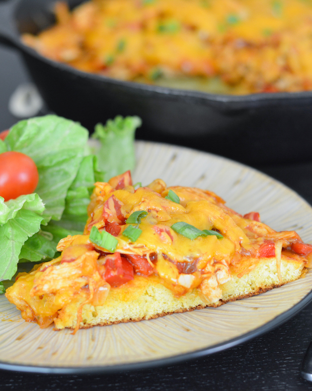 BBQ Chicken and Cornbread Pie