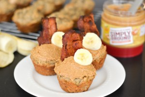 Peanut Butter, Banana and Bacon Elvis Breakfast Cupcakes