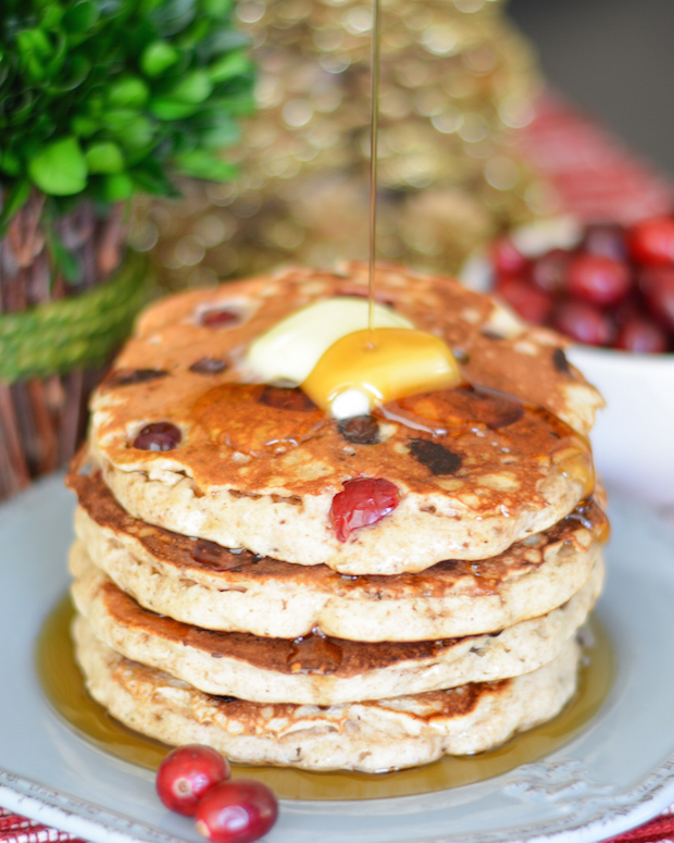 Fresh Cranberry Chocolate Chip Pancakes