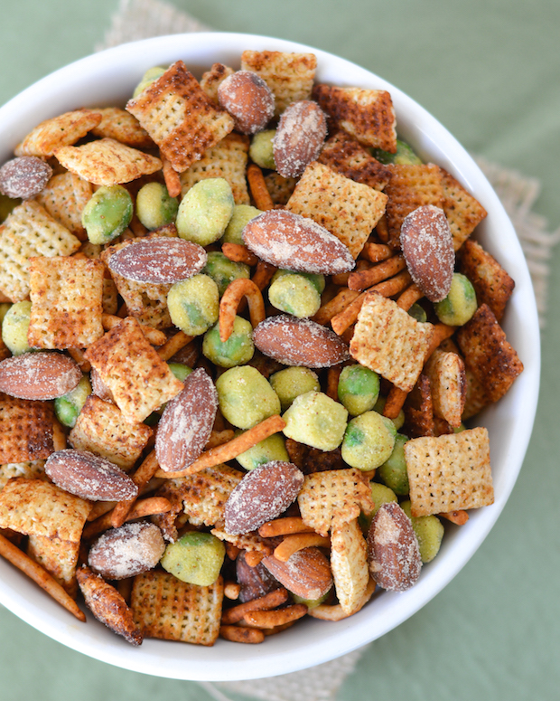 Ginger Wasabi Snack Mix
