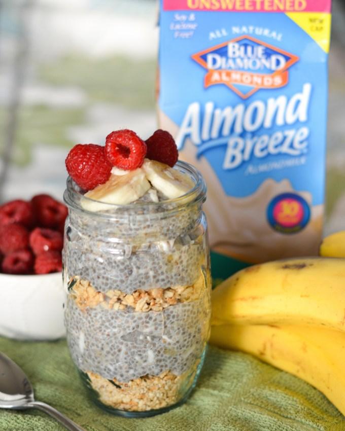 Banana Almond Chia Seed Pudding