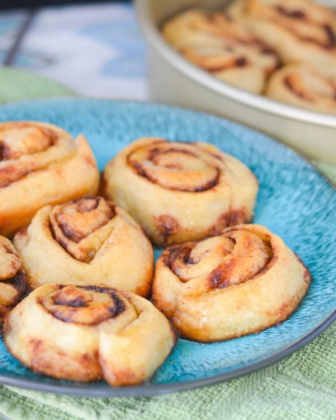 Honey Butter Pizza Dough Cinnamon Rolls