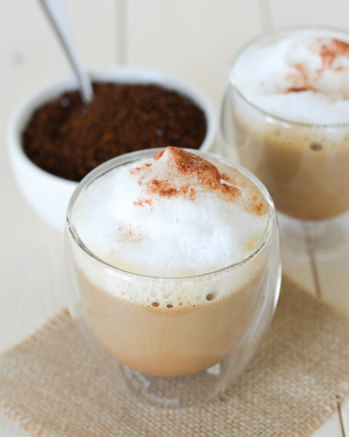 These delicious Mocha Lattes are made completely in the microwave in just 3 minutes. Save time and money at the drive through and make these easy drinks at home!