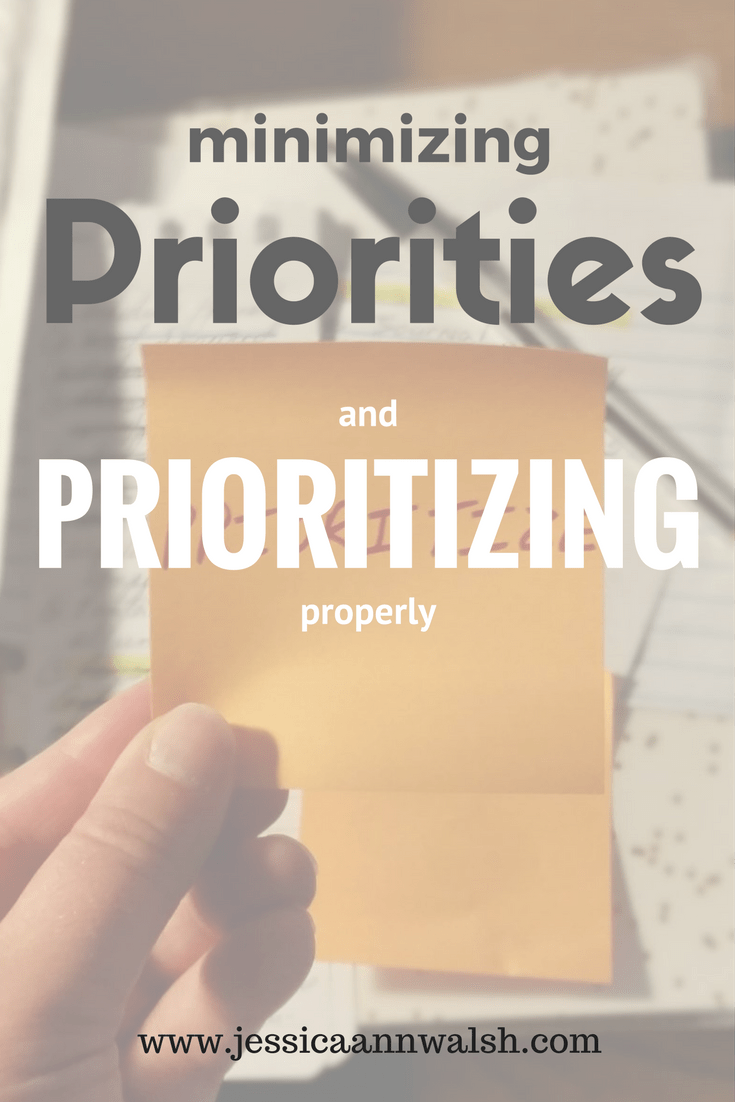 Our priorities are determined by how we spend our time, not by what we claim them to be. Evaluate how your time is really spent, and you'll realize it's time to start minimizing priorities and prioritizing properly. #Minimalism