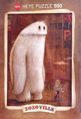 A puzzle showing a very small girl instructing a very large yeti to sit. I have to admit, it's not the most attentive yeti I've ever seen.