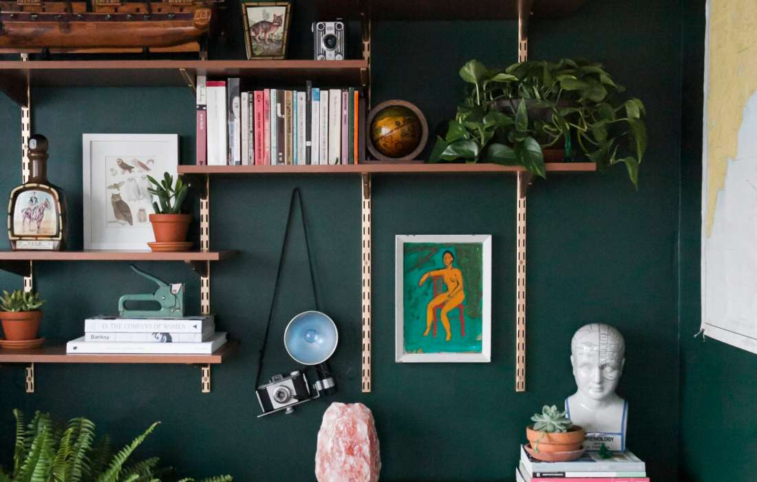Before & After: Hunter Green Home Office