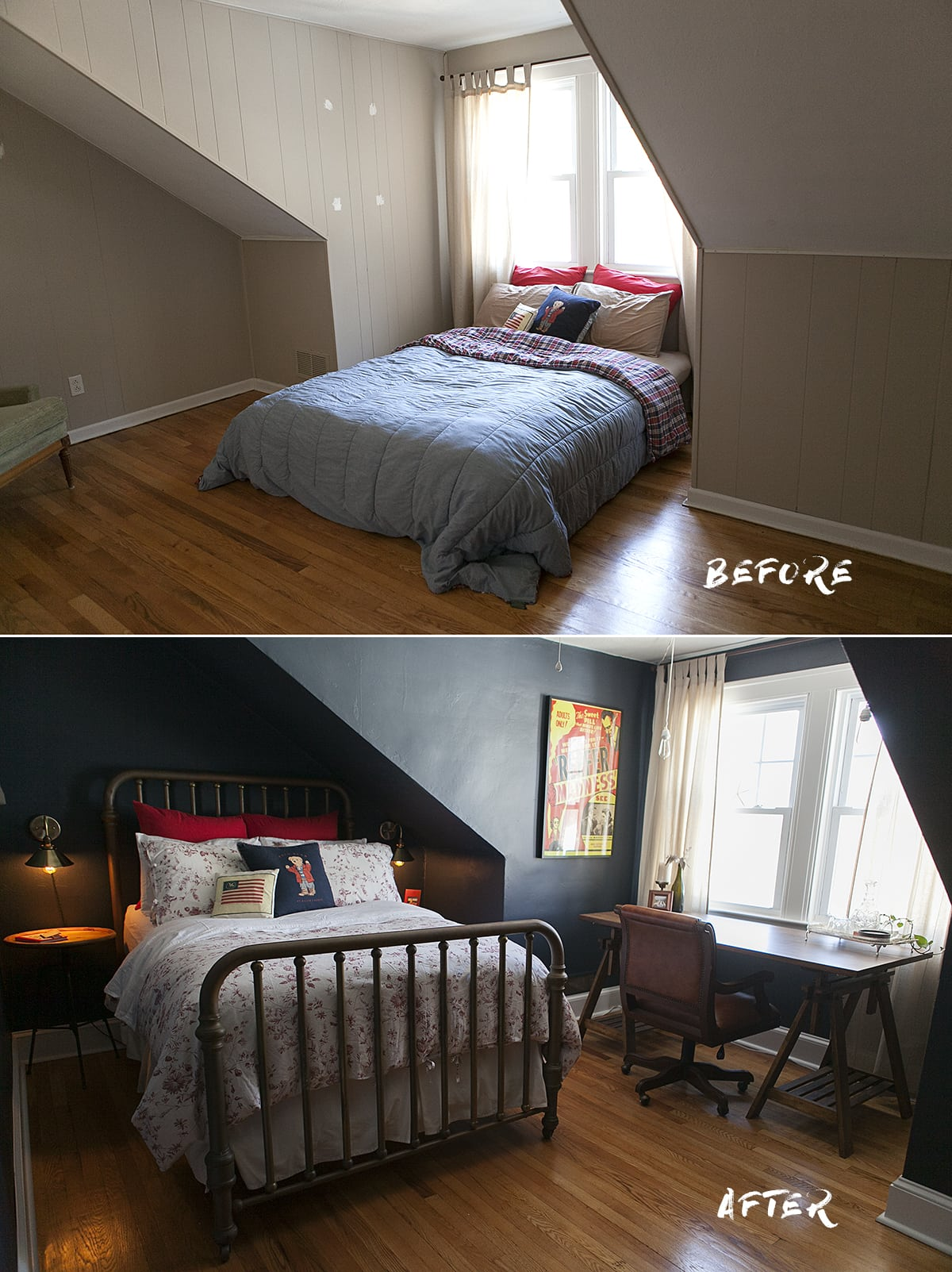 ... Our Indigo Bedroom Renovation. Finally, Just Last January, A Little  Blood, Sweat, Tears And A Lotta Of Vision Brought Together My Biggest And  Most ...