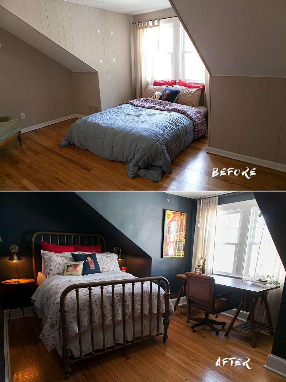 before and after - indigo bedroom ideas - jessica brigham blog - magazine ready for life