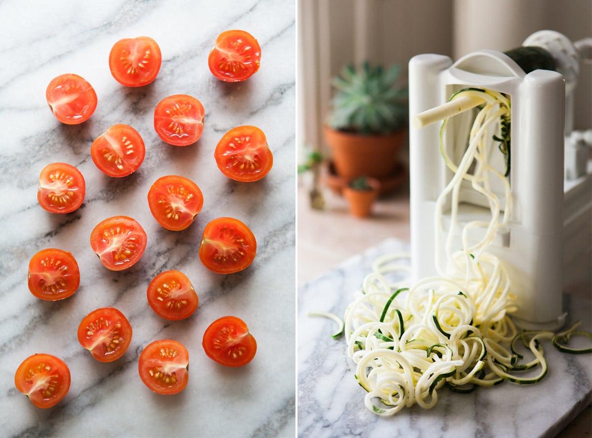 garlic-lemon-shrimp-pesto-zoodles-zucchini-noodle-pasta-healthy-eating-paderno-spiralizer-jessica-brigham